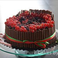 Heavenly Black Forest Christmas Cake