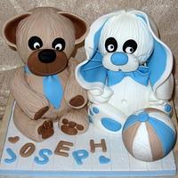 Bunny and teddy