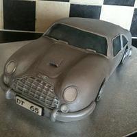 Car cake db5 007 Aston Martin
