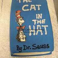 Dr. Suess themed 1st birthday cake by Evelyn Vargas