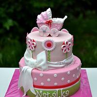 Christening stroller cake