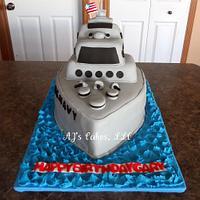 US Navy Ship Cake
