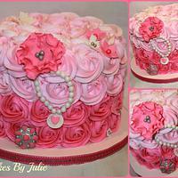 Pink Rose Swirl Cake..