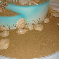 Beach Wedding Cake by Cakery Creation Liz Huber