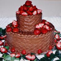 Wave buttercream grooms cake