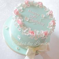 Beautiful pastal floral cake