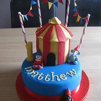1st birthday circus cake