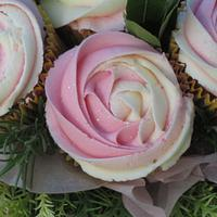 Pink Cupcake Bouquet by Cakexstacy