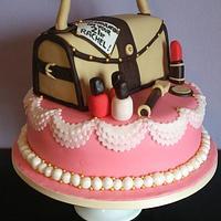 Handbag & Makeup 21st Birthday Cake