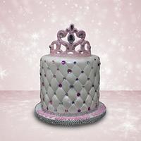 Pink Crown Cake