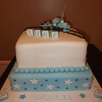 Naming Ceremony Cake by debscakecreations