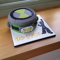 Ben 10 Omnitrix Cake with Fondant Wrath