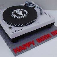 Northern soul turntable cake