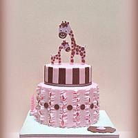 Cute Giraffe Birthday Cake