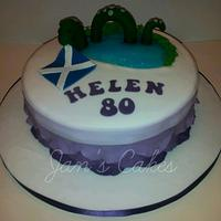 Scottish themed birthday cake & cupcakes