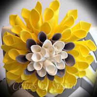 Gray and yellow chevrons by Skmaestas