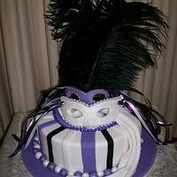 Masquerade Mask Cake