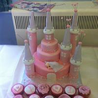 Sleeping Princess Fairy Castle Cake & Cupcakes