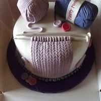 """""""Knitting Cake"""" for mothers day"""