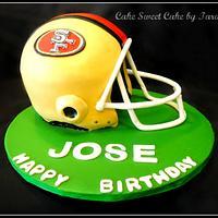 49 ers helmet by Cake Sweet Cake By Tara