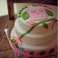 Simple Owl Cake