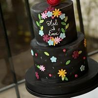 Colourful Chalkboard Cake