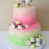 Sweet Pea / Spring Baby Shower Cake