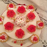 Rose in a teacup teaset by Elli Warren