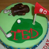 Golf Birthday Cake by SweetCreationsbyFlor