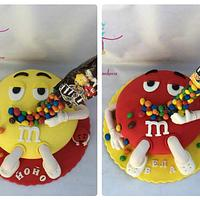 M & M cakes for twins
