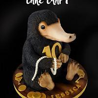 3D Niffler cake! Fantastic Beasts
