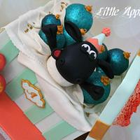 Ornament gift box cake with Timmy Time surprise