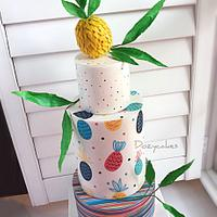 Pineapple Party Cake