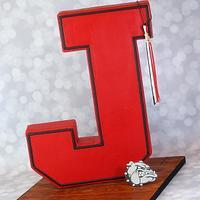 Standing letter cake