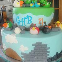 Angry bird cake for Gab by Ana01