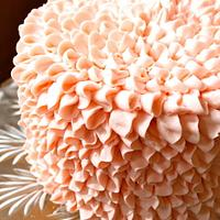 Buttercream Ruffle/ Flower cake