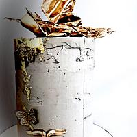 Concrete and Gold Cake