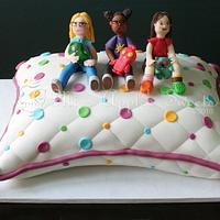 Girls on a Pillow Cake