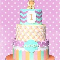 Pastel Patterned Cake