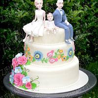 regional-themed wedding cake