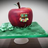 Apple Themed Twins cake