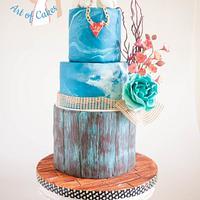 Shabby Sheek Style Valentine Inspired Wedding Cake.
