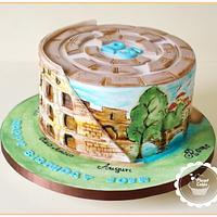 Colosseum Cake- Rome