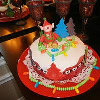 An ELF Christmas Day cake