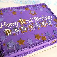 Purple and Brown Stars Birthday