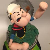 Popeye Cake for  Comicake Collaboration