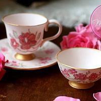 Sugar Teacups and Saucer