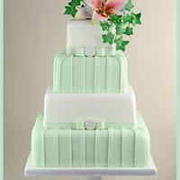 Pastel Green Pleat Cake.