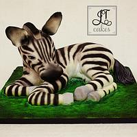 Carved Cake Baby Zebra
