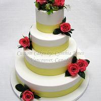 Wedding cake... With fresh flowers